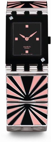 Swatch SUBB118G - Orologio da polso da donna, cinturino in acciaio inox multicolore