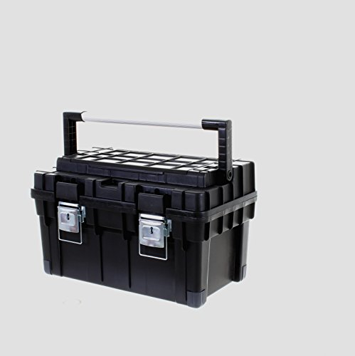 41RPLs1 AFL - BEST BUY# Marko Heavy Duty Plastic Toolbox Strong Durable with Handle Tray DIY Tool Storage Box (Black) Reviews