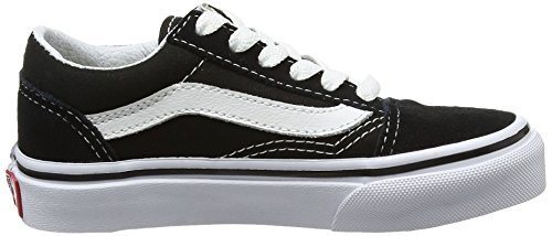 Vans Unisex-Kinder Uy Old Skool Sneakers Schwarz (Black/true White)