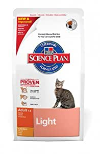 Hill's Cat Food Light Adult Chicken Dry Mix 5 kg