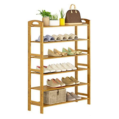 ZWJLIZI Haushaltsregal Massivholz Montageebene 6 Einfaches Schuhregal Türschuh Ablagefach Mehrere Größen (größe : 50 cm)