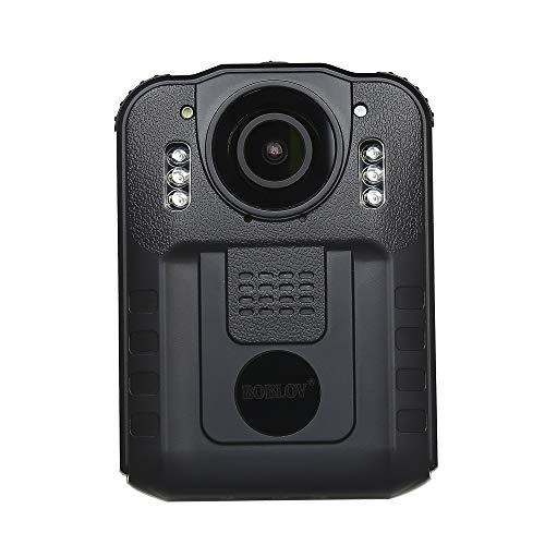 Boblov Mini Polizei Körper getragen Kamera DVR HD 1296P Video IR Nachtsicht 170° (Polizei-kamera)