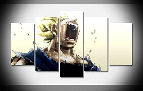 vegeta-dragon-ball-z-anime-stampa-poster-in-tela-5-pezzi