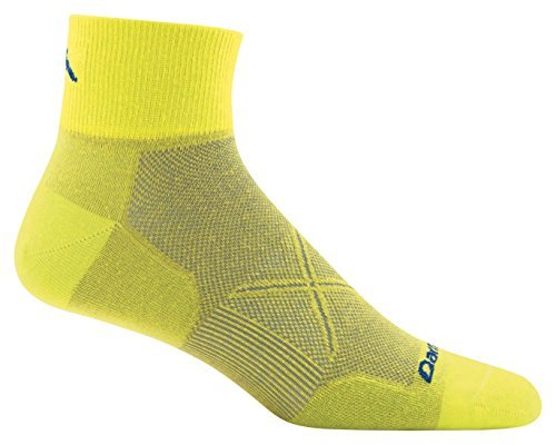 Darn Tough Coolmax Vertex 1/4 Ultralight Sock - Men's Sulphur Spring Large (1/4 Sock Coolmax)