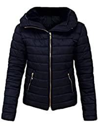 Malaika ® Ladies Quilted Padded Puffer Bubble Fur Collar Warm Thick Womens  Jacket Coat - Avaiable 15455b8fc