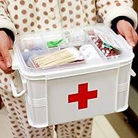 FLAMEER Haltbar Medizinbox Medizin Aufbewahrungsbox Erste Hilfe Kasten Hausapotheke Box, 28 x 19 x 24 cm preisvergleich bei billige-tabletten.eu