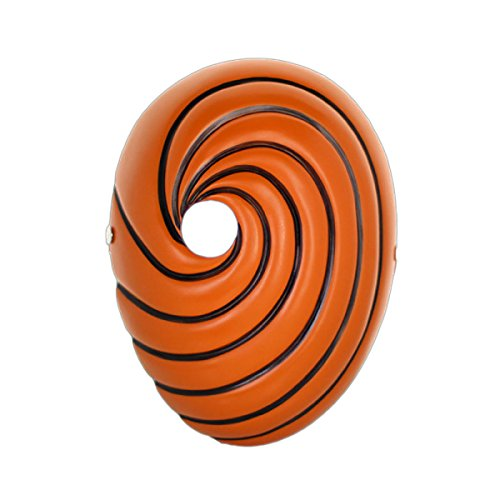 ekoration Sammleredition Film Naruto Uchiha Boden Harz Maske,Orange-OneSize ()