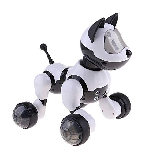 Homyl Drahtloser Roboterhund Tanzende Hund Pädagogisches Spielzeug mit Licht und Musik für Kinder ab 6 Jahre Alt (Spielzeug Hund Mit Licht)