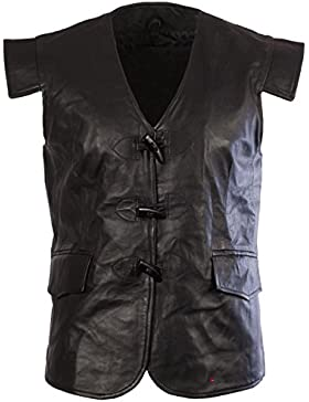 I Luv LTD Leather Scottish Waistcoat In In Jacobean Style Size Medium