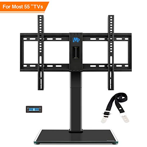 Mounting Dream TV Ständer Höhenverstellbar, TV Standfuss Schwenkbar Passend für die Meisten 42-60 Zoll LED, LCD, OLED und Plasma TVs mit Max VESA 600x400mm bis zu 45 kg, Kippschutzriemen Enthalten