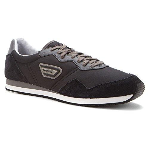 DIESEL Herren Schuhe KURSAL Y01077 P0520 T8013 Gr.: 46 EUR/12.5 USA/29.5 JPN - Black Jake Sneakers, Schwarz- T8013 - Man Schoes - Diesel Jake