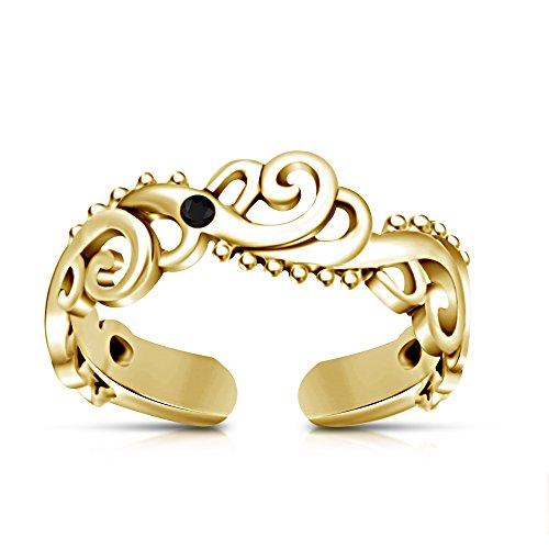 Vorra 925 Sterling Silber mit Zirkonia-RD 14 k Gold vergoldet für Women\'s verstellbar
