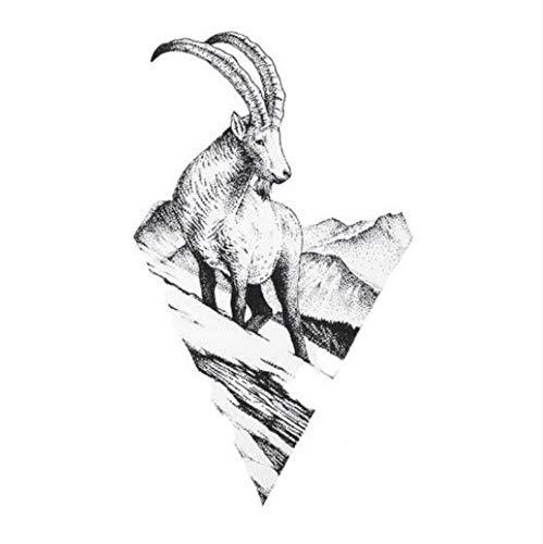 ruofengpuzi Antilope Schafe Temporäre Tätowierung Aufkleber wasserdichte Erwachsene Männer Und Frauen Schulter Gefälschte Tätowierung 10.5X6 cm