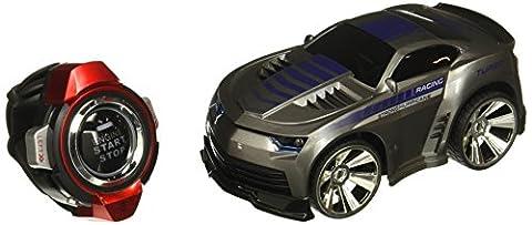 SainSmart Jr. VC-02 Commande Vocale Voiture, Rechargeable Radio Contrôle par Smart Watch, Creative Vocale RC voiture, Dazzling Phares et Freins Cool, Gris