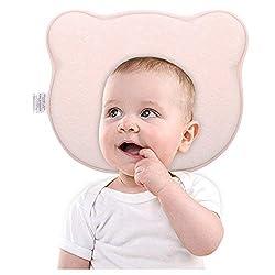 verhindert flachen Kopf-Syndrom Plagiozephalie f/ür Neugeborene Baby /& #-; aus Memory-Schaum Kopf Gestaltung Kissen und Neck Support 0/–12 Monate Blau Baby Kopfkissen