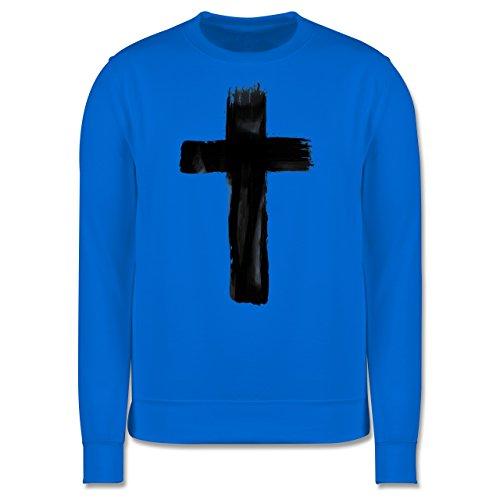 Symbole - Kreuz Vintage - Herren Premium Pullover Himmelblau