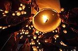 Lot de 20 Lanternes Blanches chinoise celestes volantes biodégradable pour fêtes , moments...