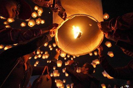 25farolillos voladores chinos, color blanco, para recién casados, globo aerostático del amor.