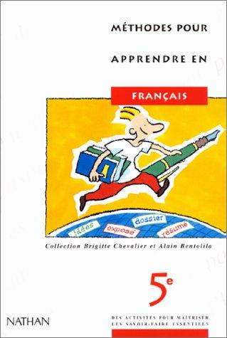 Méthodes pour apprendre, 5e, français, élève