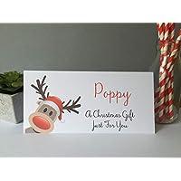 Personalised Christmas Card Money Gift Wallet Vouchers Cash Reindeer