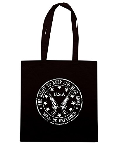 T-Shirtshock - Borsa Shopping TM0652 the right to keep and bear arms will be defended Nero
