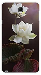 Crazy Beta LOTUS FLOWER Printed Back Cover for Samsung Galaxy Note 3 Neo