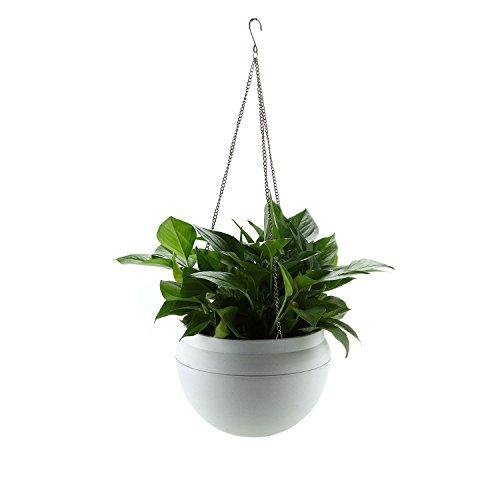 ComSaf Hängepflanztopf 026.6 * 18CM Kunststoff Packung mit 1, Hängeschale für Balkon Hanging Hängeampel Pflanzkorb Sphere Blumenampel Moderner Dekorativer Aufhänger-Topf