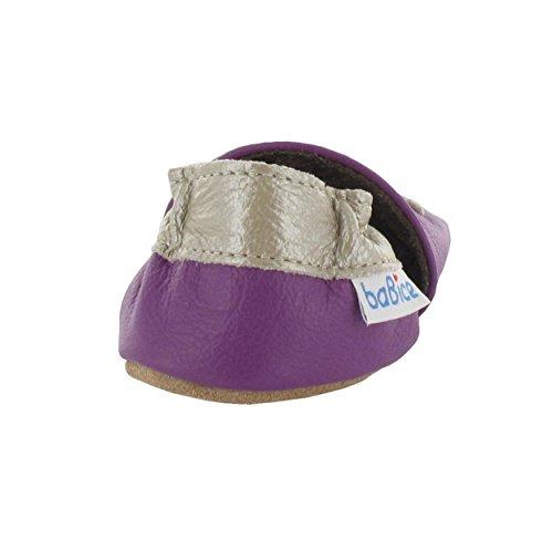 Krabbelschuhe Schmetterling 'Violetta' in 3 Farben von baBice, Größe Schuhe:26/27 (30-36 Mon);baBice Schuhe:flieder lila
