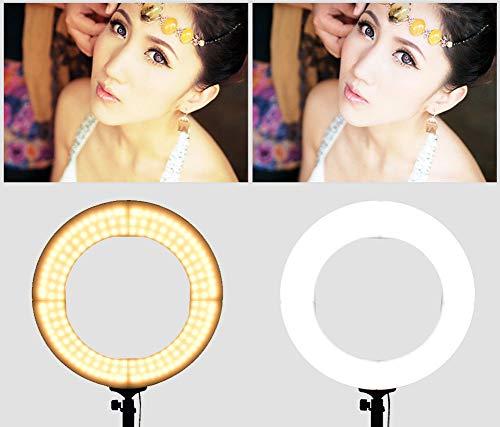 CAIVEN Ringlicht 65W 18-Zoll dimmbare Ringleuchte mit 448 einzelne LED für YouTube Videoaufnahme