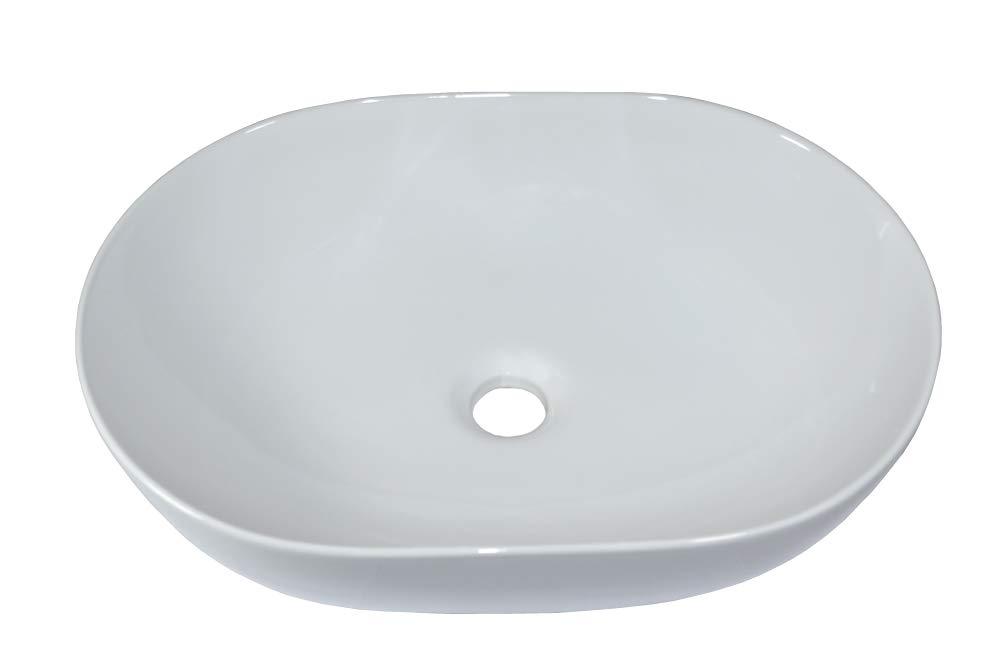 Lavabo sobre encimera Lavabo de cer/ámica lavabo Rectangular Lavamanos Cuarto de Ba/ño 49x35