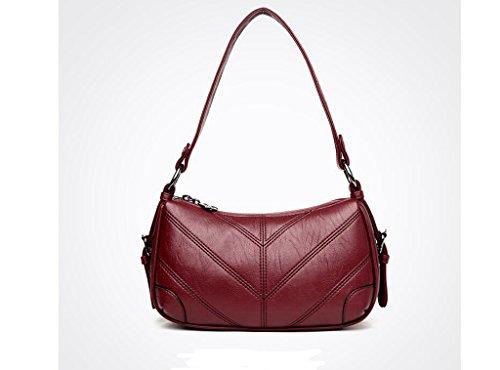 messenger bag Madre, il nuovo sacchetto femminile di mezza età, borse a tracolla signore di modo, ad alta capacità pacchetto diagonale red
