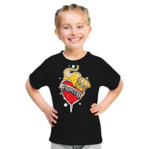 Kinder T-Shirt Kleine Princess Schwarz