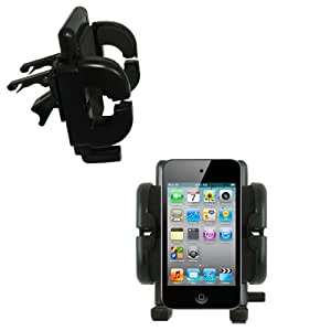Gomadic Air Vent Clip Based Cradle Holder Car / Auto Mount suitable for the Apple iPod touch (4th generation) - Lifetime Warranty