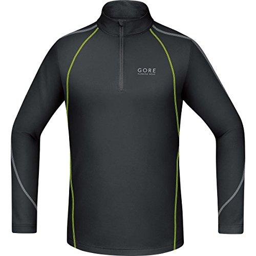 Gore Running Wear, Camiseta De Manga Larga Para Correr Para Hombre, Negro/Amarillo Neón, M