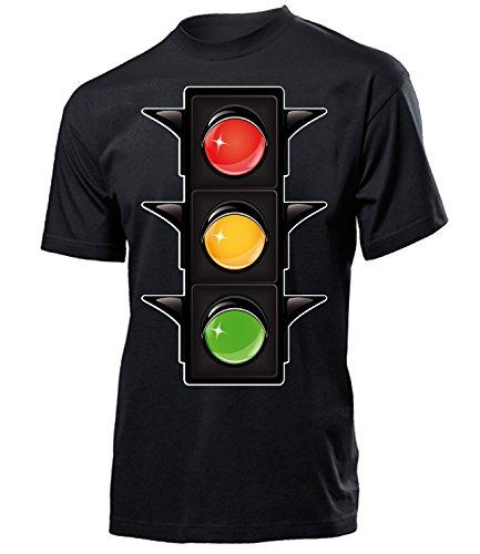 Ampel 2593 Karneval Kostüm Herren T-Shirt Tshirt Männer Fasching Faschingskostüm Karnevalskostüm Paarkostüm Gruppenkostüm Verkleidung Schwarz L