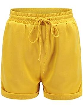 feiXIANG ® 💋Pantaloni Corti, Donna Shorts Hot, Shorts Elasticizzati, Pantaloncini Basic 💋 Estate Pantaloncini...