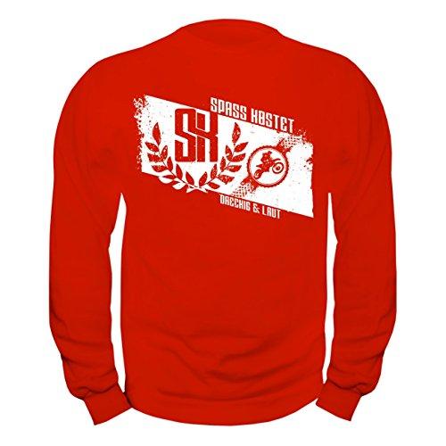 Männer und Herren Pullover CROSS - LAUT & DRECKIG (mit Rückendruck) Rot