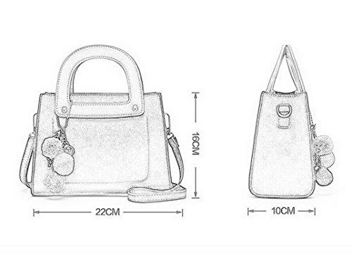 Aotela, Borsa a mano donna Size:16*22*10cm/6.30*8.66*3.94inch(H*L*W), Grey (grigio) - AotelaAA-123456 Grey