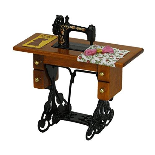 1/12 Casa de Muñecas Muebles en Miniatura Máquina de Coser Vintage