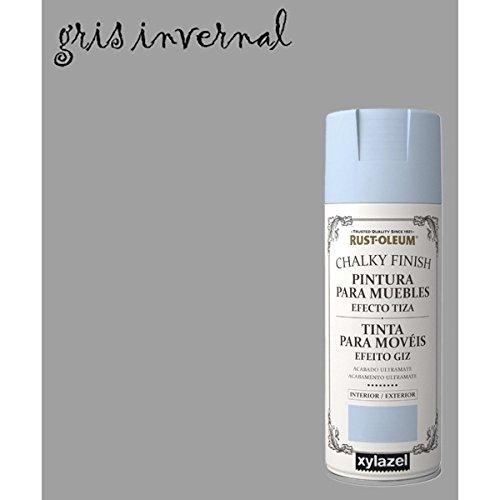 Kreide-Spray Effekt Farbe Rust-Oleum Chalk Xylazel - 815 Winter-Grau
