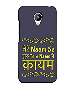 Fuson Designer Back Case Cover for Meizu M3 (Tere Naam Pe Kayam Life Young Girl Partner)