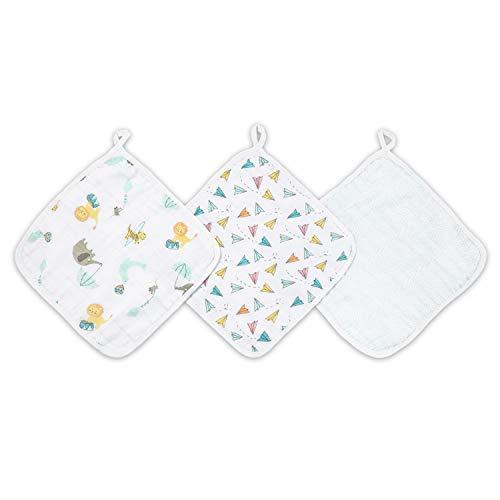aden + anais Carnival 3-Packaden Washcloths