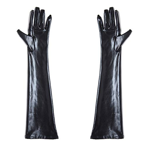 Ywlanlantrading Guante 3 Pares Womens Wet Look Guantes