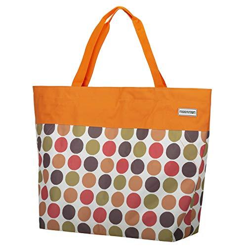 anndora XXL Shopper orange Punkte - Strandtasche 40 Liter Schultertasche Einkaufstasche