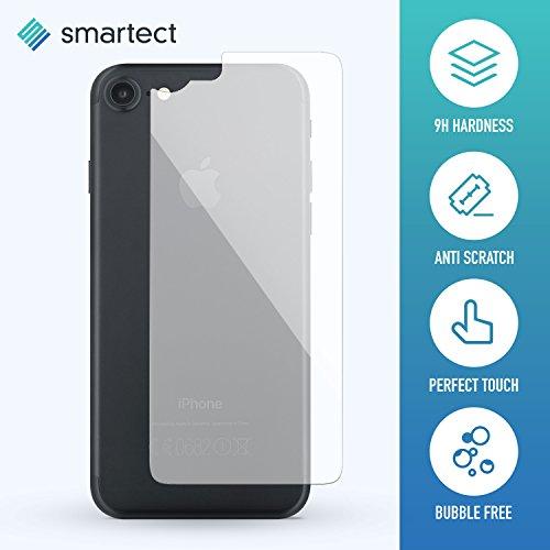 [Arrière] Protector de Pantalla de Cristal Templado para iPhone X de smartect® | Lámina Protectora Ultrafina de 0,3mm | Vidrio Robusto con Dureza 9H y Antihuellas Dactilares