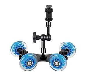 ayex Magic Arm Gelenkarm mit Dolly Kamerawagen für Video-DSLR/Camcorder