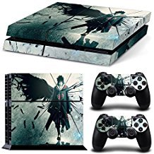 Can® PS4 Konsolen-Aufkleber für Sony Playstation 4 und Remote Dualshock 4 Wireless Controller Sticker - Uchiha Sasuke Naruto (Remote Playstation 4)