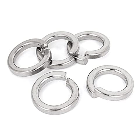 sourcingmap® 25mm 1-inch 316 Stainless Steel Split Lock Spring Washers Pad 5pcs
