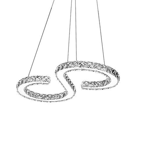 Hengda® 36W LED Kristall Hängeleuchte Kronleuchter Kaltweiß(6000-6500K),2880LM,Deckenlampe Kronleuchter für Wohnzimmer Schlafzimmer Flur, Lichtfarbe Modern Luxus