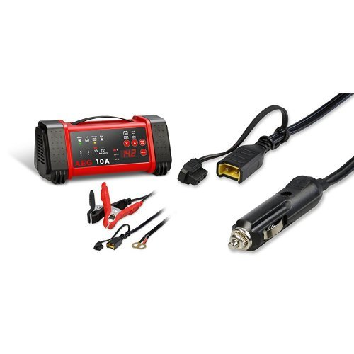 Preisvergleich Produktbild AEG Automotive 97019 Mikroprozessor-Ladegerät LL 10.0 Ampere für 12 und 24 V Batterien, 8-stufig und AEG Automotive 97213 Komfortanschluss Bordsteckdose KB 12